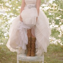 Great Pair Of Boots With Wedding Dress