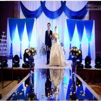 High Grade Wedding Mirror Carpet With Gold And Silver Double Sided