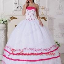 Hot Pink And White Wedding Dresses Naf Dresses