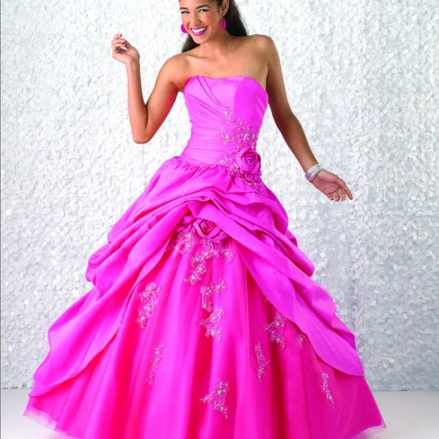Hot Pink Wedding Dresses For Irresistible Bridal Look