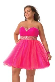 Hot Pink Wedding Dresses Plus Size