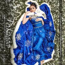 Hot Sale Royal Blue Winter Bridal Wraps Long Girls Cape Tippet