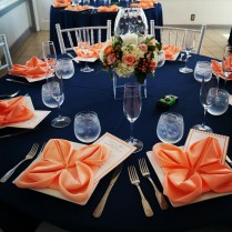 Ideas For Table Decorations For Wedding Reception Navy Blue And