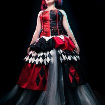 Items Similar To One Of A Kind Harley Quinn Wedding Dress Cosplay