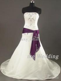Ivory And Purple Wedding Dress