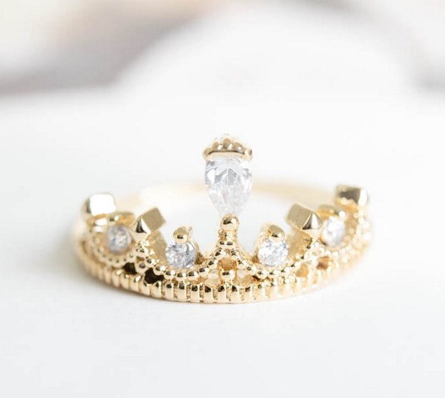 King And Queen Crown Wedding Rings