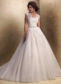 Lace Princess Ball Gown Wedding Dress