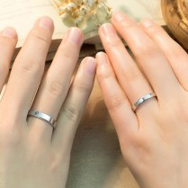 Love Forever Engraved Promise Rings For Couples, Personalized Flat