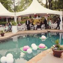 Magical Themed'' Poolside Wedding Reception Décor Idea