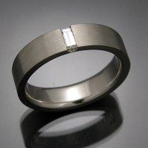 Mens Custom White Gold And Platinum Wedding Rings