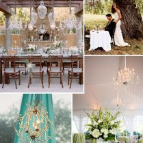 Modern Rustic Chandeliers In Trees & Tents…