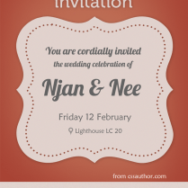 Modern Wedding Invitation Card Psd For Free Download