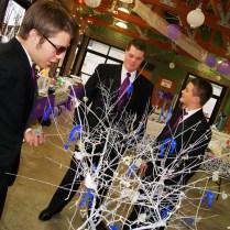Money Tree Wishing Wedding Blue Purple Beads