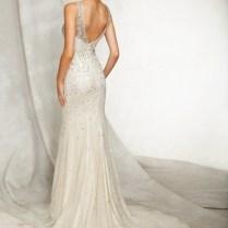 Mori Lee Beaded Back Wedding Dress