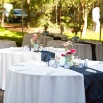 Navy Blue Wedding Reception Table Decoration Ideas Photograp