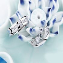 New Sterling Silver White Crown Queen & King Wedding Evening