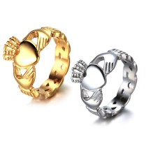 New Wedding Rings Love Heart King Queen Crown Claddagh Ring Love