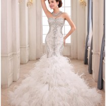 Online Buy Wholesale Feather Mermaid Wedding Dress From China
