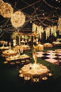 Outdoor Wedding With Checkered Dance Floor