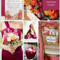 Pantone Sangria Inspiration Board