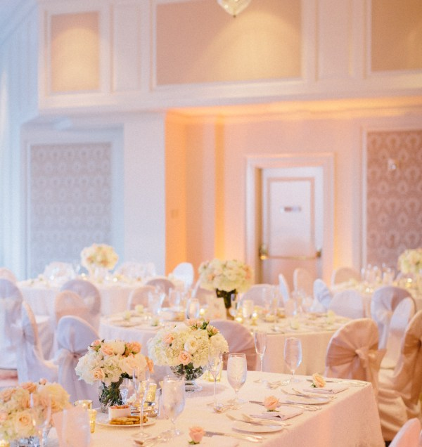 Peach And Pink Wedding Decoration