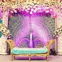 Peacock Inspired Indian Wedding Decor