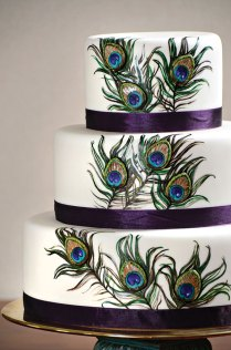 Peacock Wedding Cakes To Die For!