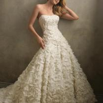 Perfect Aline Lace One Mesmerizing Flower Wedding Dresses
