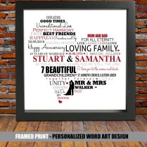 Personalized 40th Wedding Anniversary Ruby Wedding By Blingprints
