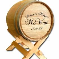 Personalized Wine Barrel Wedding Gift