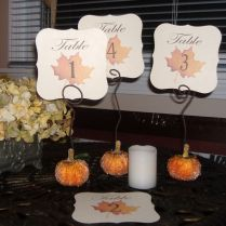 Picture Of Cute Autumn Wedding Table Numbers