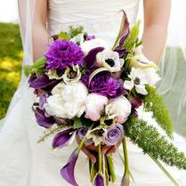 Pictures Of Wedding Flowers In Purple