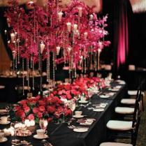 Pink And Black Wedding Decor Ideas ♥ Wedding Centerpiece 1796527