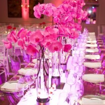 Pink Wedding Centerpieces With A Long Table Elnawawy