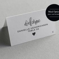 Place Card Template, Printable Template, Wedding Place Cards
