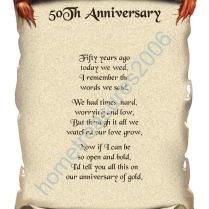 Poems For Golden Wedding Anniversary