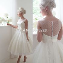 Polka Dot Wedding Gown Retro 1950s Style Bridal Gown