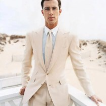 Popular Beige Wedding Suit