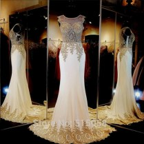 Popular Gold Ivory Wedding Dresses