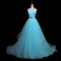 Popular Light Blue Wedding Gowns