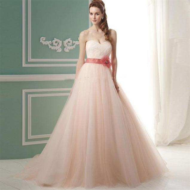 Popular Peach Wedding Dress