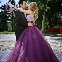 Popular Purple Wedding Dress