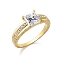Popular Rectangle Wedding Rings