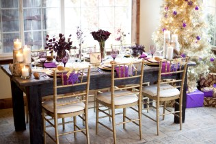 Purple And Cream Wedding