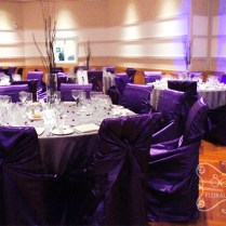Purple And Silver Wedding Reception Decorations