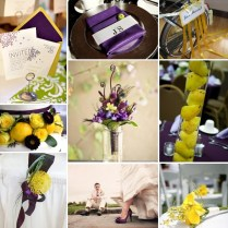 Purple And Yellow Wedding Decorations On Decorations With Purple