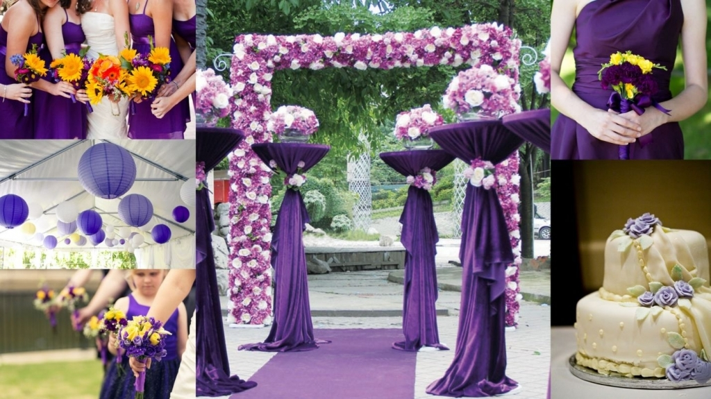 Results For Purple And Yellow Wedding Idea