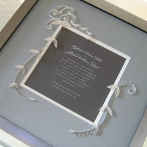 Quilled And Framed Wedding Invitation By Ann Martin