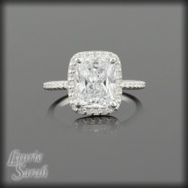 Rectangular Cushion Cut Cz Engagement Ring In 14k Gold • Laurie