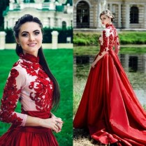 Red And Green Wedding Dresses At Dallas
